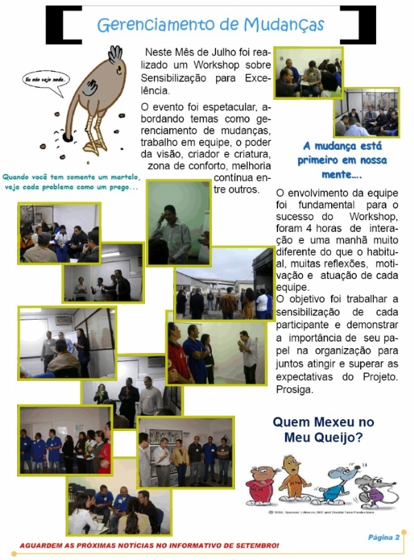 Workshop Sensibilização para Excelência